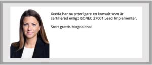 Certifierad Lead Implementer